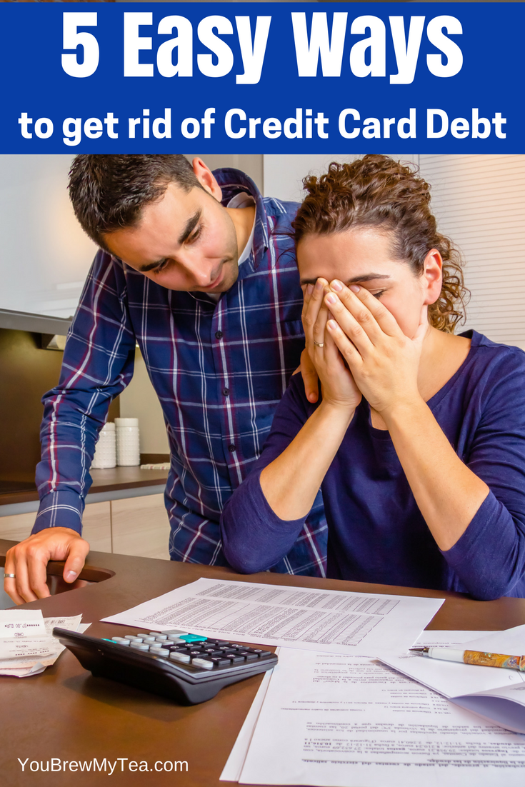 Struggling to pay your bills? Check out these 5 Easy Ways To Get Rid Of Credit Card Debt! Our tried and true tips have helped us pay off over $50k in debt!