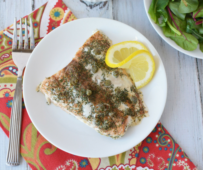 Broiled Salmon with Dill and Capers