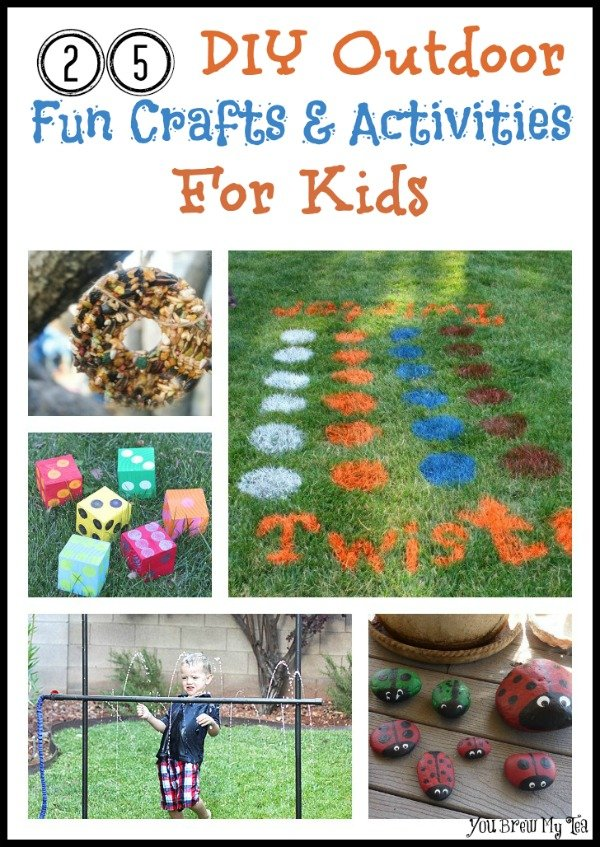 Check out these great summer fun activities for kids! Crafts & Activities that are ideal for playing outdoors!