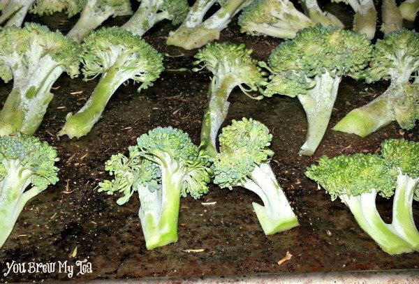 Roasted Broccoli Prep
