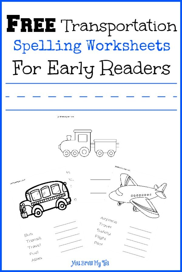 Transportation Spelling Worksheet