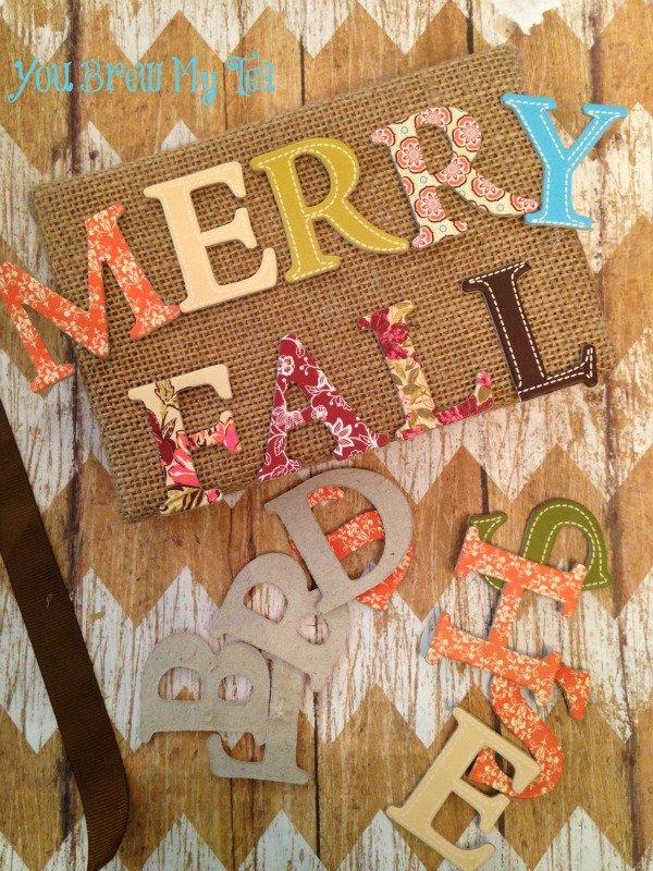 Merry Fall Door Hanger Prep 2