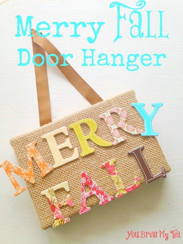 Merry Fall Door Hanger