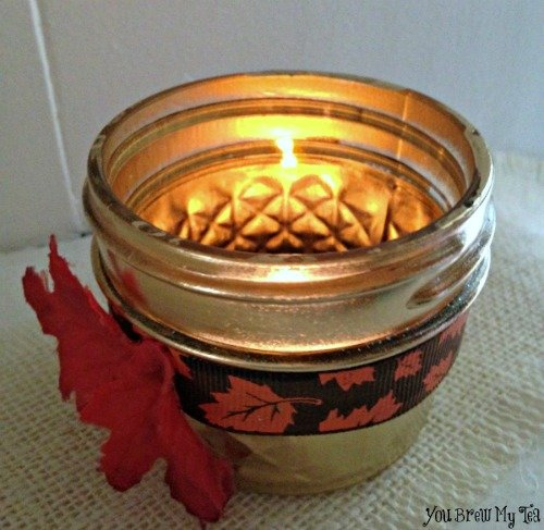 Upcycle Jelly Jar Votive Holder 2