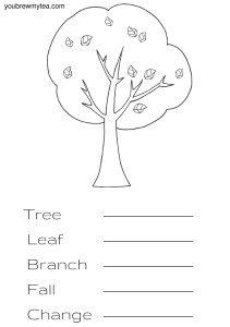 Tree Printable Spelling Words