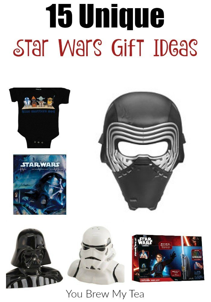 Great Star Wars Gift Ideas are included in this list that includes classic Star Wars, The Force Awakens, and Star Wars Rebels!