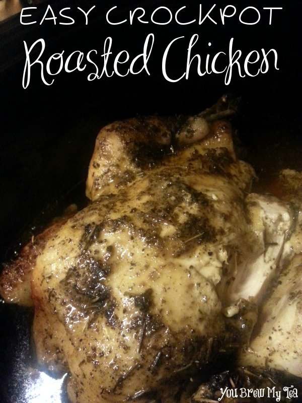 Easy Crockpot Roasted Chicken
