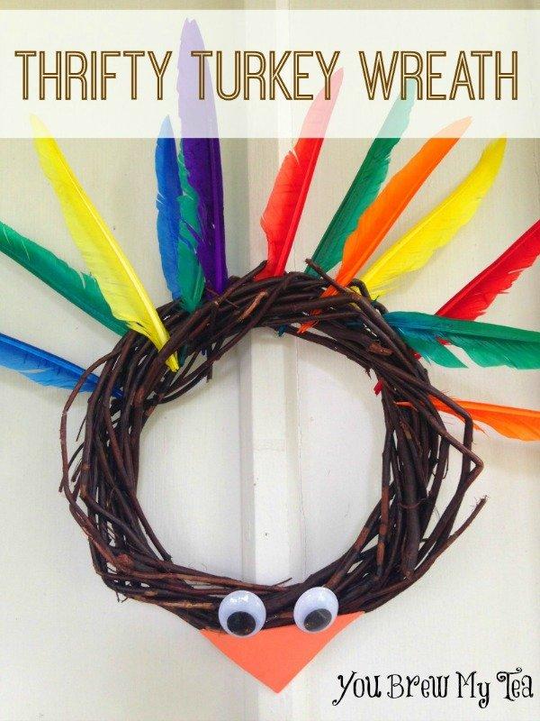 Thrifty Turkey Wreath