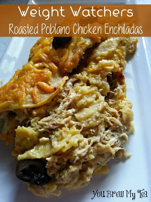 Weight Watchers Roasted Poblano Chicken Enchiladas
