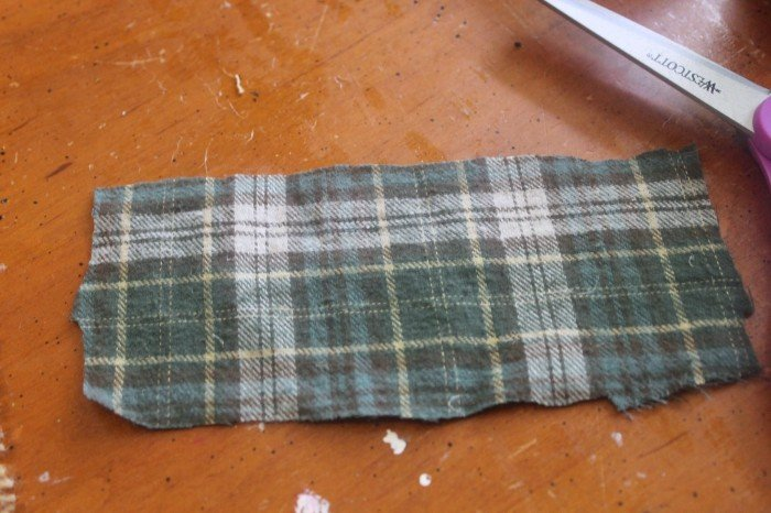 flannel napkin ring fabric