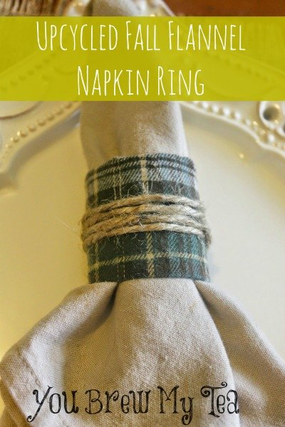 Upcycled Flannel Napkin Ring