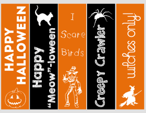printable halloween bookmarks - Halloween Bookmarks To Color