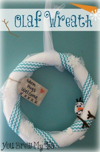 DIY Olaf Wreath