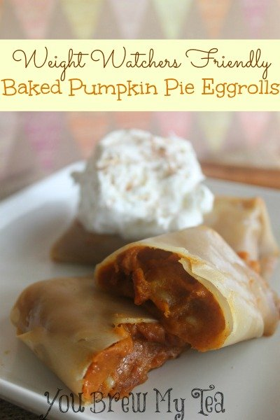 Weight Watchers Pumpkin Pie Eggroll