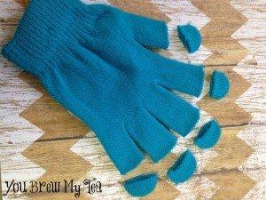 No Sew Fingerless Gloves Prep