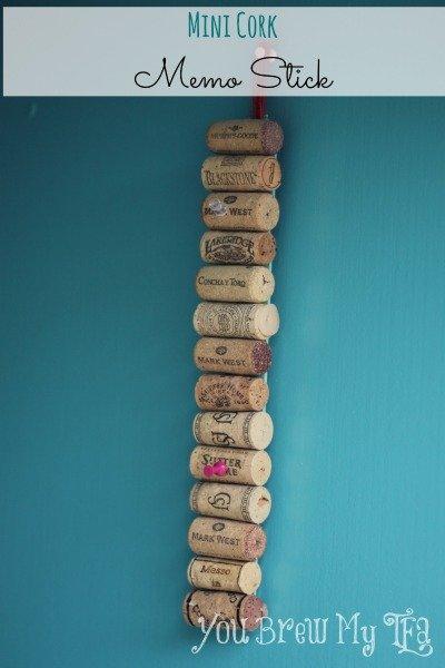 WIne Corke Mini Memo Stick