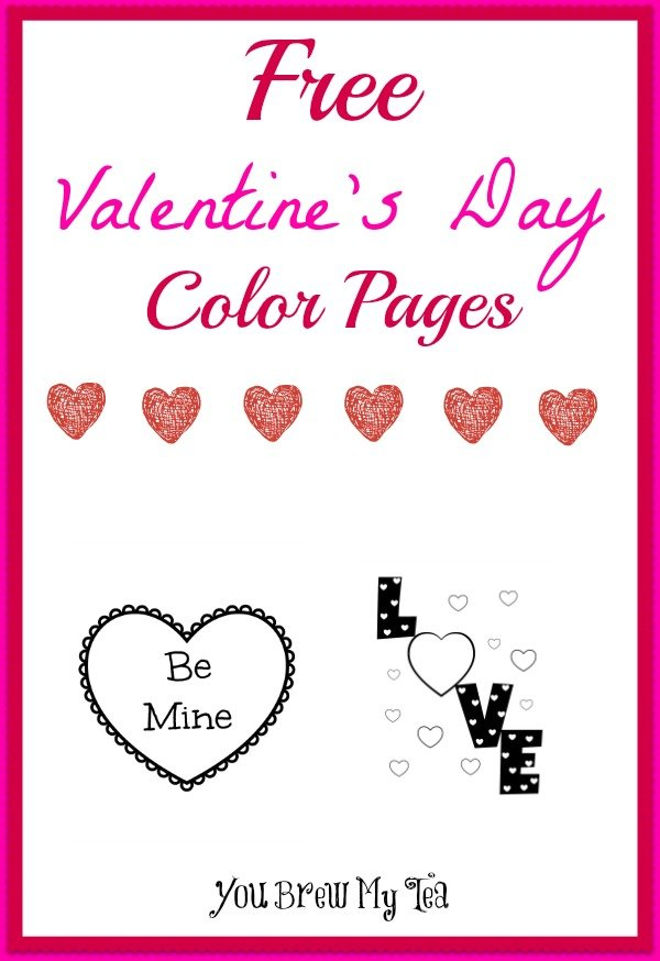 Free Valentine S Day Color Pages