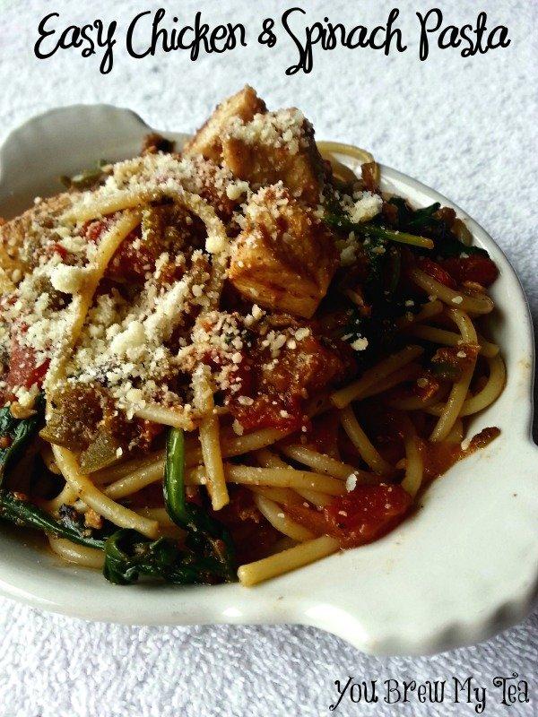Easy Chicken & Spinach Pasta