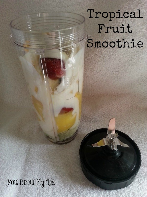 Weight Watchers Smoothies: Tropical Fruit Smoothie is a great option for a fast breakfast but does weigh in at 10 SmartPoints on the Beyond The Scale program!