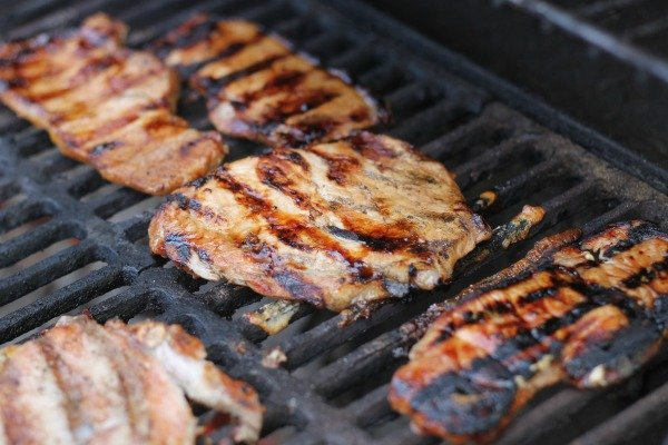 Balsamic Marinated Grilled Pork Chops -