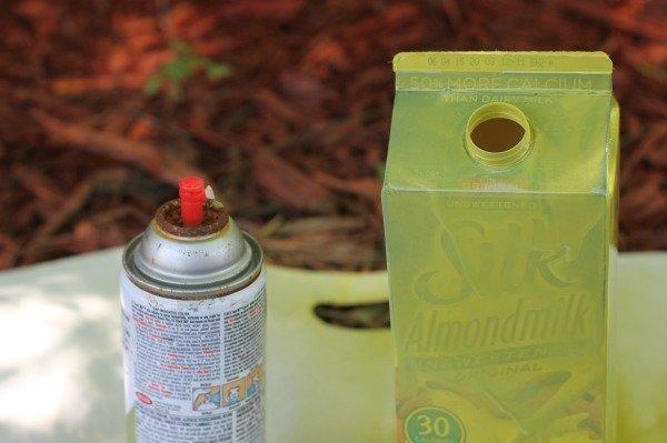 upcycled milk carton craft spray
