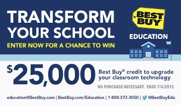 Best Buy For Education Sweepstakes