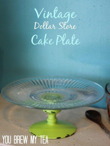 Diy Vintage Cake Plate