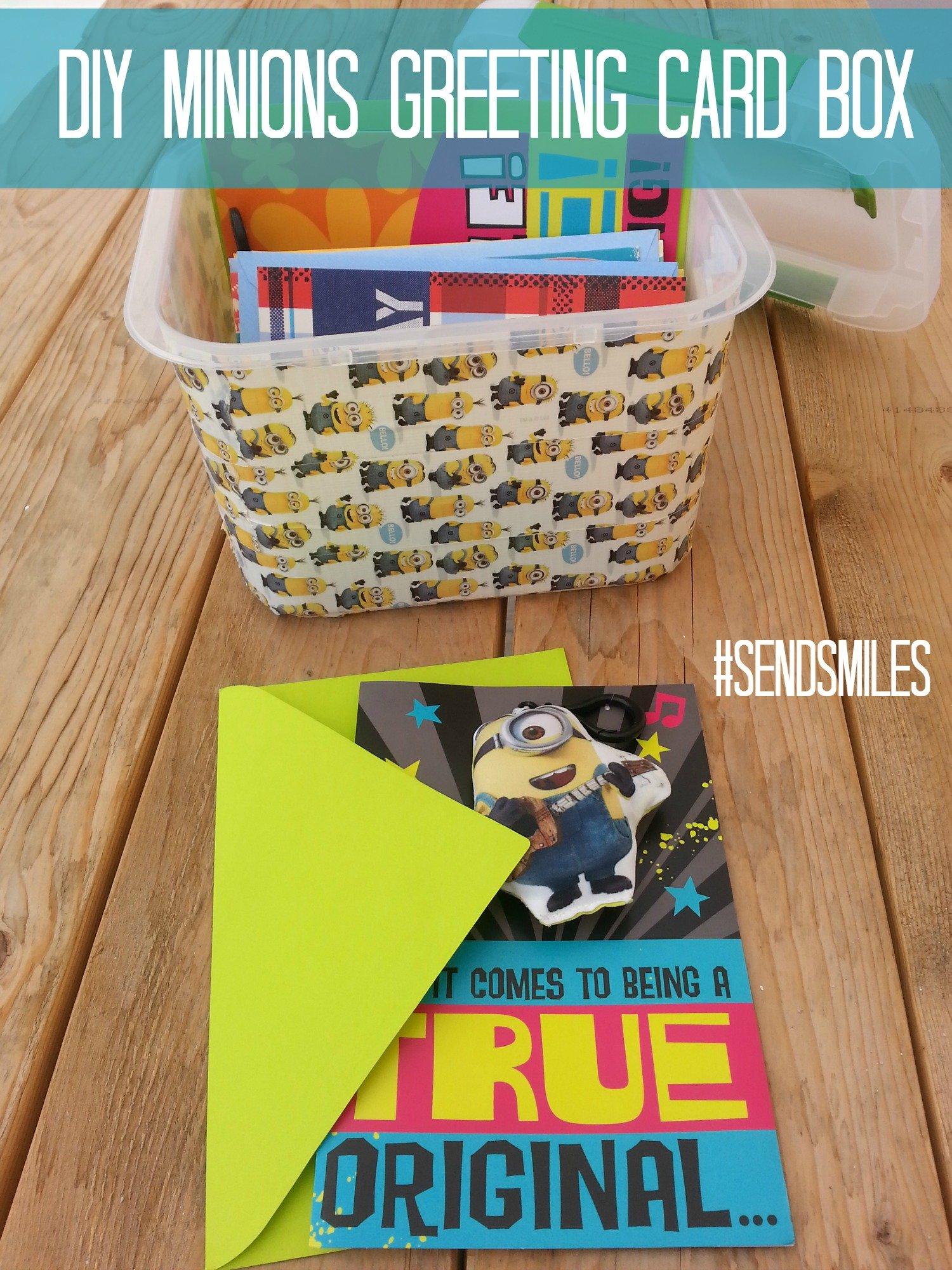 Diy Minions Greeting Card Box Sendsmiles