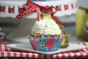 Disney Inspired Dole Whip Cupcakes