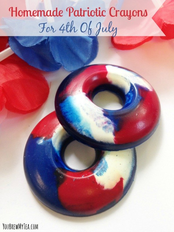Homemade Patriotic Crayons