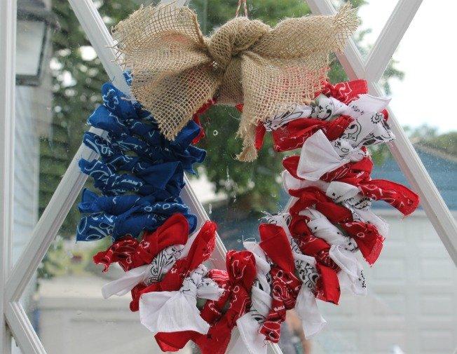 Patriotic 4th Of July Wreath
