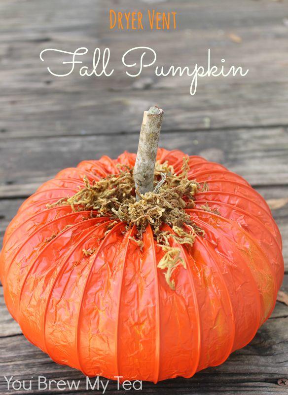 dryer vent pumpkin
