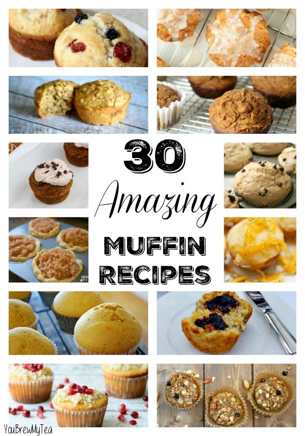 Here are 30 Amazing Muffin Recipes that everyone will love! Savory, sweet, dessert, breakfast and snacks!