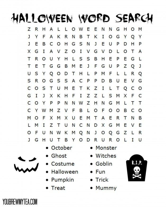 Free Printable Halloween Word Search - photo#12