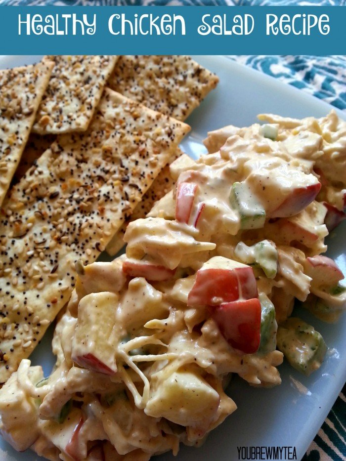 This Healthy Chicken Salad Recipe is a great low fat and delicious substitute that will be a perfect lunch everyone loves!