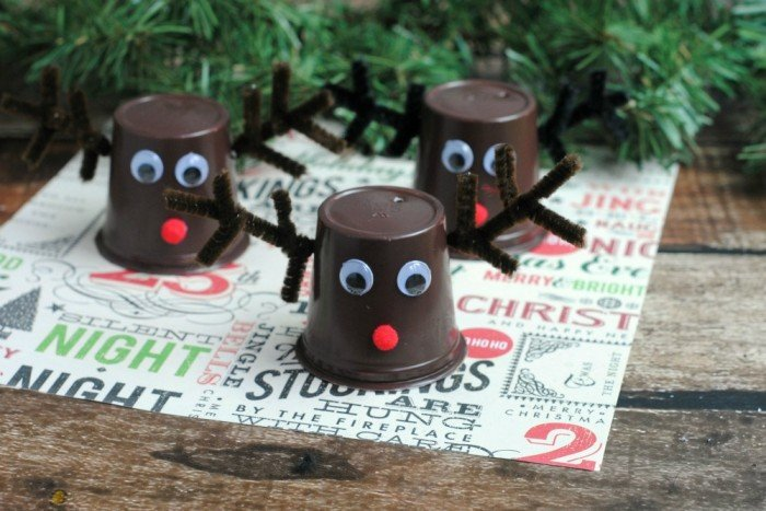 Reindeer KCup Christmas Decor Idea