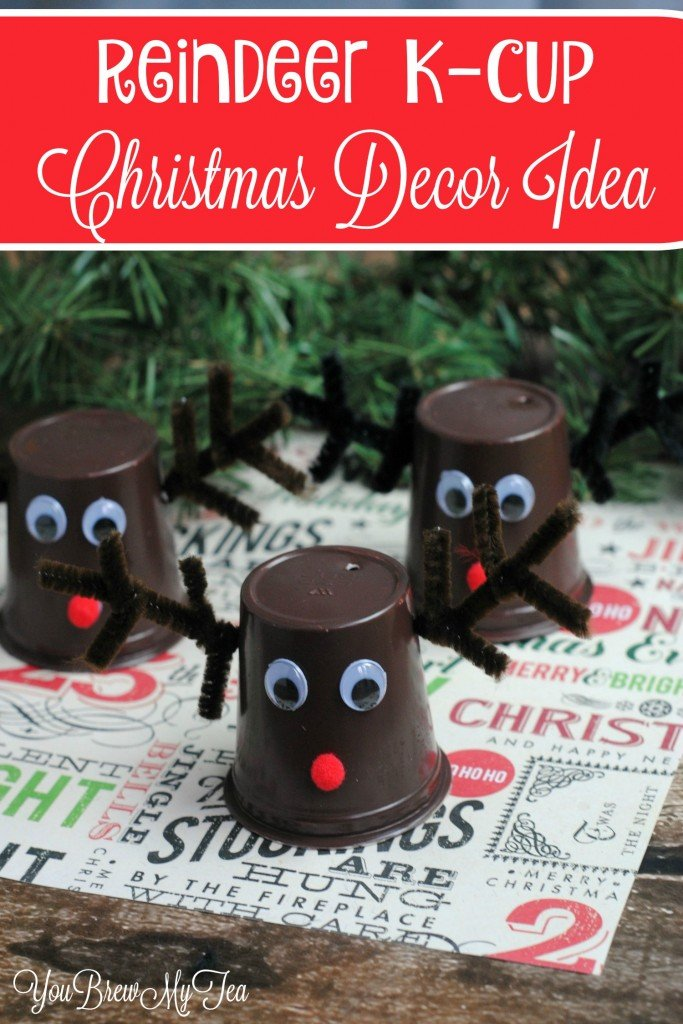Reindeer KCup Christmas Decor Idea