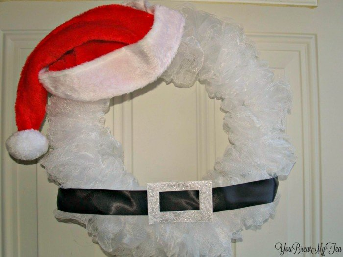 Santa Clause DIY Christmas Wreaths