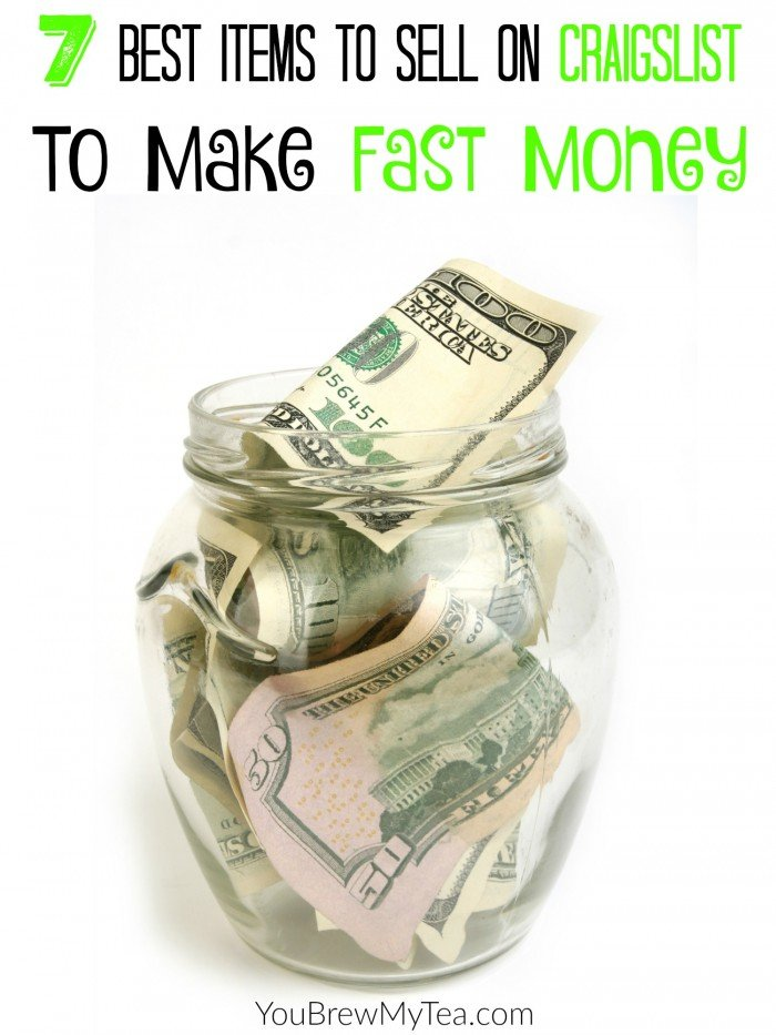 If you are looking for ways to make fast money, here are what I think are the 7 Best Items To Sell On Craigslist.