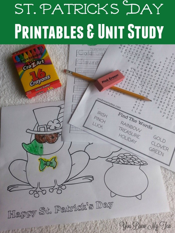 Check out our great St. Patrick's Day Printables and complete unit study on this fun green holiday!