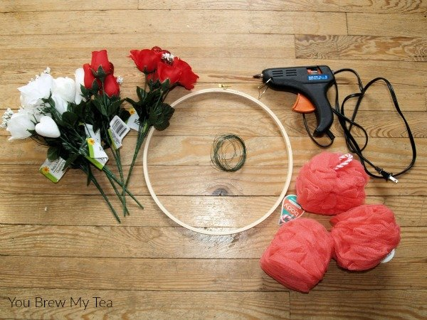 Check out this super easy and fun Valentine's Day Wreath that is a favorite new dollar store crafts idea!