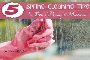Check out our list of the top 5 Spring Cleaning Tips For Busy Moms! Great choices for making sure your home is sparkling!
