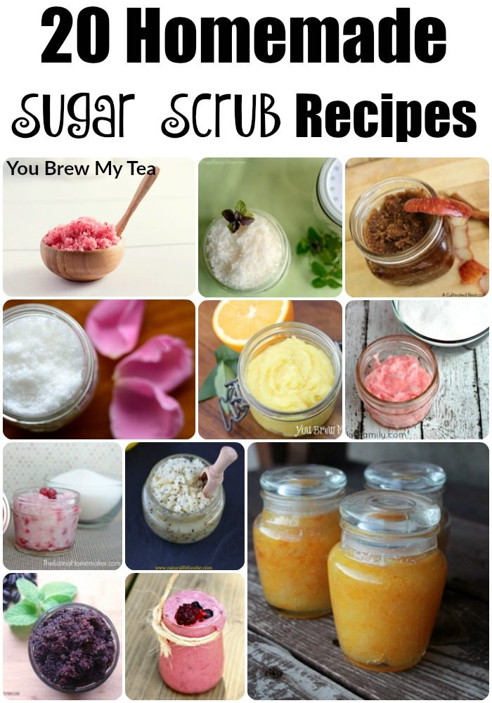 20 homemade sugar scrub recipes for How to make a spa at home