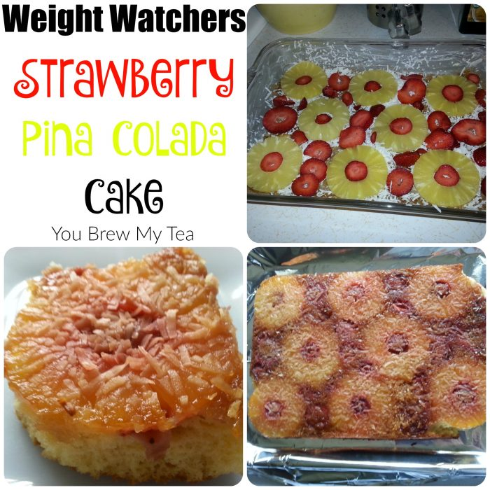 Weight Watchers Desserts don't have to be boring! Check out our great Strawberry Pina Colada Cake! Such an easy semi-homemade dessert recipe that is delicious and lower in fat and calories!