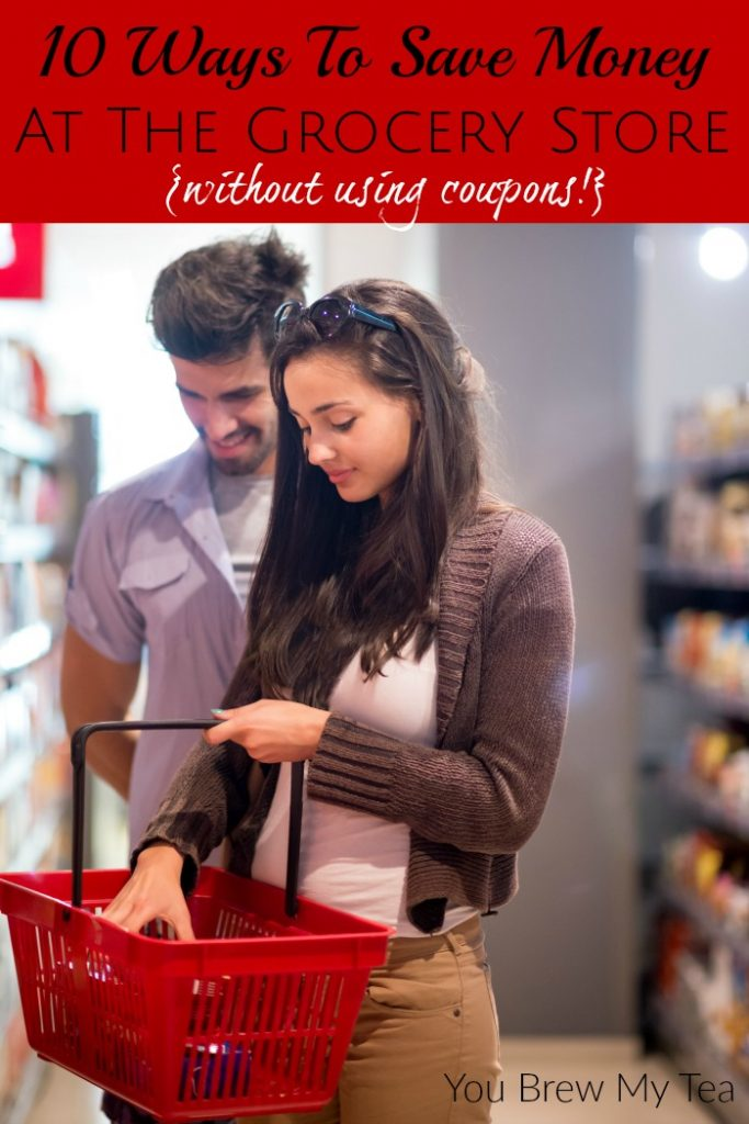 Ways To Save Money At The Grocery Store can make a huge difference in your budget! Save hundreds each month with our practical tips! NO COUPONS NEEDED!