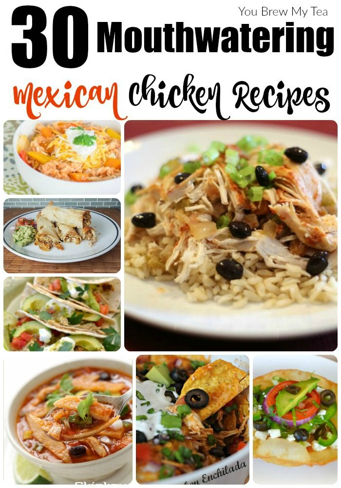 Don't miss our top 30 Mexican Chicken Recipes! Amazing choices including chicken tacos, chicken enchiladas, and tons of easy casserole recipes!