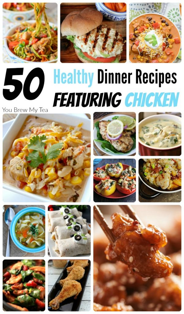 Healthy Recipes For Dinner are easy to make with this amazing list of 50 Great healthy recipes for dinner featuring Chicken!