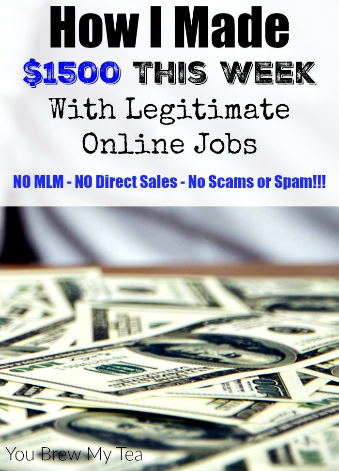 How I Made $1500 This Week With Legitimate Online Jobs
