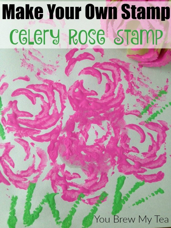 Make Your Own Stamp Celery Rose Stamp