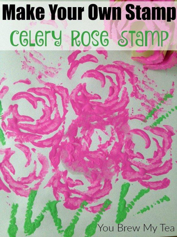 Make Your Own Stamp Celery Rose Stamp